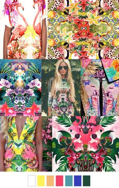 FV contributor, Pattern Curator curates an insightful forecast of mood boards & color stories and we are thrilled to have them on board as our newest FV contributor. They are collectors of images and Trends 2016, 2016 Fashion Trends, Fashion Colours, Colorful Fashion, Tropical Fashion, Mode Inspiration, Color Inspiration, Pattern Curator, Estilo Lady Like