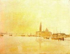 'San Giorgio Maggiore at Dawn' (1819) by Joseph Mallord William Turner #painting #art