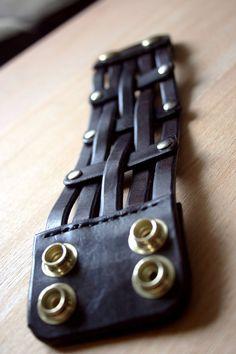 Leather Strap Bracelet Leather Cuff Bracelet by KrukisCorner