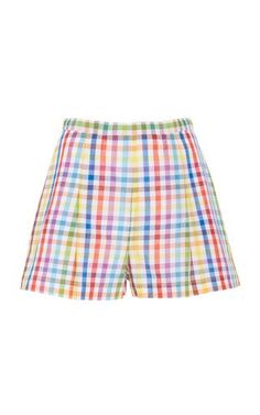 Rainbow Checked Mini Shorts by MDS Stripes Resort 2019 Moda cd3edef08b5