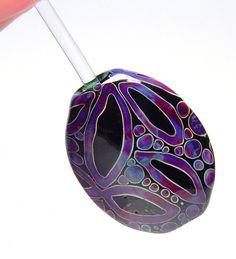 JillSymons.com Lampwork Oval Majestic Focal - $55 - SOLD