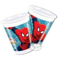 feestbekers Spider-Man 200 ml 8 stuks Spiderman Web, Superman, Batman, Marvel, Inspiration, Biblical Inspiration, Inspirational, Inhalation