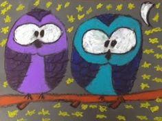 ARTventurous: Oil Pastel Owls