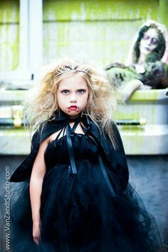Awesome vampire costume for my fearless little girl!