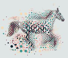 Alhambresque horse by tsevis, via Flickr