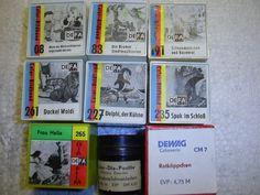 9 x DEFA Color Rollfilm,Nr. 08, 83, 191, 261, 227, 235, 265, 19, DEWAG Rotkäppch