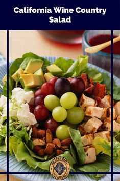 The best salad recipe starts with chopped chicken, avocado, and fruit like grapes from California. Easy to make and topped with a light dressing, this salad is a great lunch or dinner option. #saladrecipes #salad #salads #saladdressingrecipes #saladideas #saladrecipesfordinner #saladdressing #chicken #grape #fruit #easy #chopped #bestchicken #fordinner #green #easychicken #best #californiagrapes #glutenfreerecipes #glutenfree Grape Recipes, Best Salad Recipes, Salad Recipes For Dinner, Salad Dressing Recipes, Summer Recipes, Breakfast Recipes, Dinner Options, Salad Ingredients, Healthy Salads
