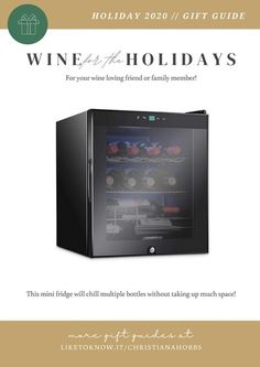Perfect gift for Christmas or Thanksgiving! Keep up to 12 wine bottles chilled without taking up space in your refrigerator. I have this wine fridge and it's awesome! I love being able to have it out of my kitchen. Cocktail, bar, gift guide, gifts for men, great gift ideas #LTKgiftspo #LTKhome #LTKmens