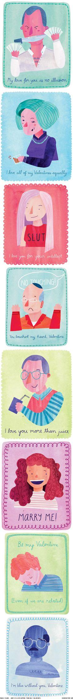 Arrested Development free printable Valentines by Marisa Seguin   //   FOXINTHEPINE.COM