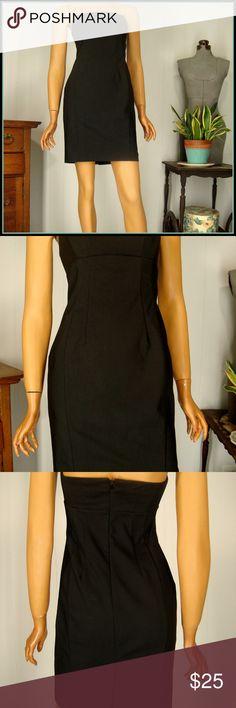 62fbb269 Express Black Sheath Dress sz 2 Strapless Stretch Express Black Sheath Dress  sz 2 Strapless Stretch