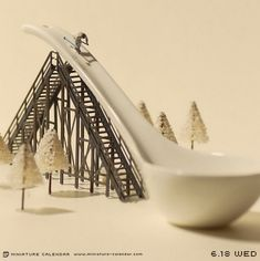 I love these things! This one is part of the Miniature Calendar project by Tanaka Tatsuya