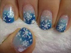 snowflake nails - Google Search