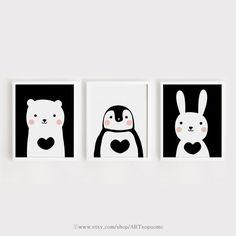 Noir et blanc imprimable pépinière Art lot de 3 par ARTsopoomc