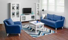 Laulumaa Huonekalut - Olohuone - Laulumaa Sara® - valkoinen Home Decor, Furniture, Sectional Couch, Decor