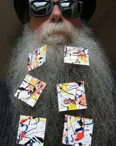 BEARD GALLERY - Opere di Enzo Dente installate sulla mia barba (Galleria Pensile)