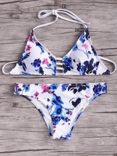 SHARE & Get it FREE | Floral Halter Bikini SetFor Fashion Lovers only:80,000+ Items • New Arrivals Daily Join Zaful: Get YOUR $50 NOW!