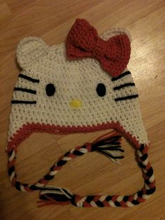 #hello #kitty #hat #crochet