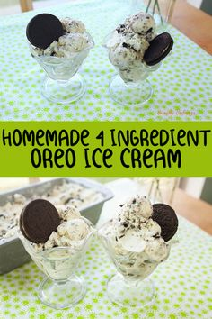 A delicious homemade, 4 ingredient Oreo Ice Cream and impress your guests! With just 4 ingredients, you will have your very own Oreo Ice Cream! Oreo Ice Cream, Ice Cream Cookies, Vegan Ice Cream, Ice Cream Party, Cookies And Cream Iced Coffee Recipe, Cream Cake, Condensed Milk Ice Cream, Homemade Oreo Cookies, Ice Cream Videos