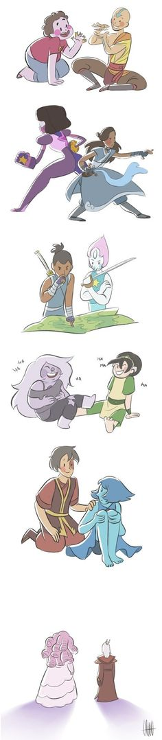 Steven Universe Meets Avatar... hm... do you think Greg and Iroh would get along?