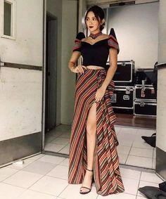 Kath in a custom Filipiniana🇵🇭✨ . Modern Filipiniana Gown, Filipiniana Wedding, Grad Dresses, Dress Outfits, Fashion Dresses, Emo Outfits, Party Dresses, Tribal Mode, Filipino Fashion