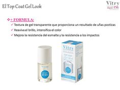 Top coat gel de #Vitry matifica al instante el esmalte. #farmacia #manicura #uñas