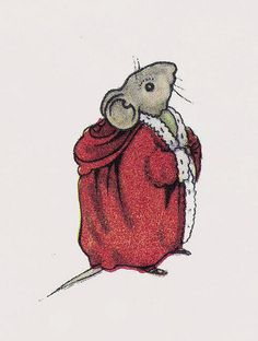 """A Mouse Father Christmas    """"Little Miss Pink's School"""" by Rodney Bennett, with pictures by Astrid Walford. From the Little Miss Pink Books by George G. Harrap & Co., first published in 1949."""