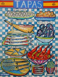 Learn how to make Tapas  on a food tour. Visit our guide at: http://www.shareasale.com/r.cfm?u=902724&b=132440&m=18208&afftrack=&urllink=www%2Eviator%2Ecom%2FSpain%2Dtours%2FCooking%2DClasses%2Fd67%2Dg6%2Dc19 #Cooking Classes Spain #Cooking Schools Spain #Spanish food