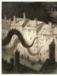 The Arrival Shaun Tan: Simply stunning illustrations Shaun Tan, Arte Horror, Foto Art, Black And White Illustration, Cthulhu, Children's Book Illustration, Illustrations Posters, Graphic Art, Fantasy Art