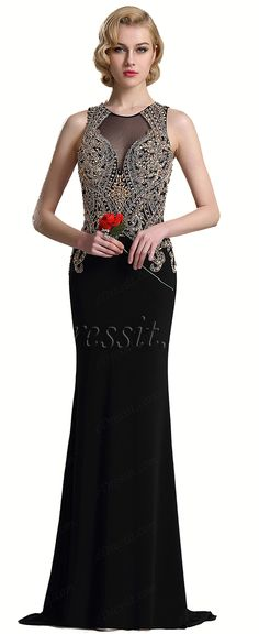 eDressit Sleeveless Beaded Mermaid Prom Evening Dress