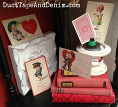 How to Display a Vintage Valentine Postcard Collection Valentine Tree, Valentine Day Crafts, Vintage Valentines, Diy Craft Projects, Fun Crafts, Crafts For Kids, Postcard Display, Repurposed Items, Valentines Day Decorations