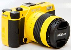 The Smallest DSLR Camera In The World: Pentax Q7 yellow hkneo.com