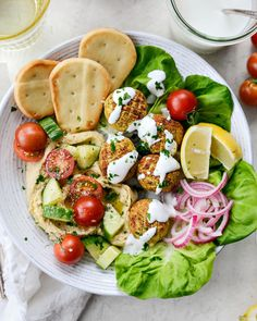 Air Fryer Falafel - Simply Scratch Lemon Basil Chicken, Greek Orzo Salad, Quick Pickled Red Onions, Hummus And Pita, Homemade Fajita Seasoning, Kentucky Butter Cake, Thing 1, Middle Eastern Recipes, Fresh Garlic