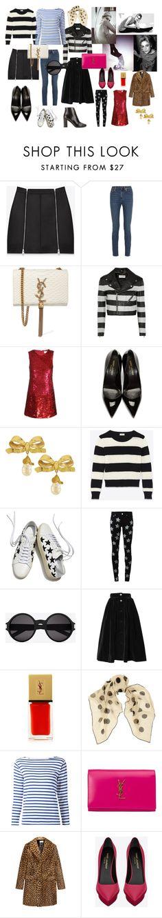 """Saint Laurent - Edie Sedwick"" by jenny-ragnwaldh on Polyvore featuring Sedgwick, Yves Saint Laurent, Vintage, women's clothing, women's fashion, women, female, woman, misses and juniors"