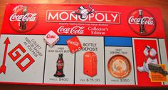 Coca Cola Monopoly Collectors Edition Board Game #ParkerBrothers