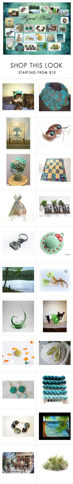 Lizard Pond: Vintage & Handmade Etsy Gifts in Green by paulinemcewen on Polyvore featuring BMW, rustic and vintage
