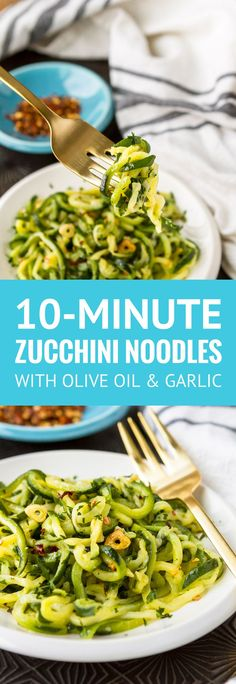 10-Minute Zucchini Noodles -- 3 ingredients plus a bag of frozen zucchini spirals gets this easy zucchini noodles recipe on your table in under 10 minutes! Makes for a light and fresh side dish or a simple swap for pasta... Low carb, gluten-free & Whole30 compliant. | how to cook zucchini noodles | healthy zucchini noodles | vegan zucchini noodles | low carb zucchini noodles | find the recipe on unsophisticook.com #whole30 #whole30recipes #zucchininoodles #easyrecipe #unsophisticook