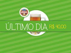 ÚLTIMO DIA para beber liberado por 40!  Ingressos: www.ingressaria.com/eventos/uberchopp & Loja Verdão Mania.