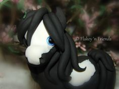 polymer clay gypsy pony / horse by Flakey 'n Friends