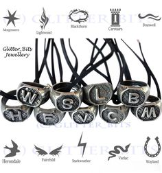 MORTAL INSTRUMENTS FAMILY RING NECKLACES MORGENSTERN HERONDALE LIGHTWOOD WAYLAND in Jewellery & Watches, Costume Jewellery, Necklaces & Pendants   eBay