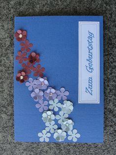 Geburtstagskarte mit Blumen
