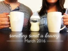Pregnancy Announcement / Baby / Parents / Parenting / Coffee / Baby Products / Baby Blog / Mom Blog / Marriage / Husband and Wife