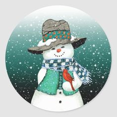 Snowman Snow Globe, Christmas Snowman, Red Christmas, Christmas Ornaments, Christmas Cards, Globe Art, Snow Covered Trees, Winter Project, Christmas Stickers