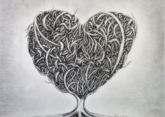 Thorn Heart  Small Print by UniqueNotFreak on Etsy