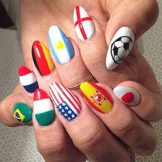 World Cup nails by Vanity Projects