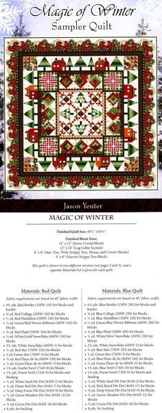 quilt sampler from ericas.com