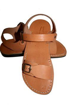 Caramel Eclipse Leather Sandals - Handmade Sandals, Jesus Sandals, Unisex Sandals, Flip Flop Sandals, Flat Leather Sandals, Genuine Leather Sandals - Sandali_Sandals