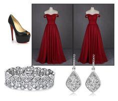 """""""Prom."""" by mandy-martin-1 on Polyvore featuring Christian Louboutin, Palm Beach Jewelry, women's clothing, women's fashion, women, female, woman, misses and juniors"""