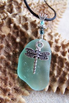 Sea Glass Necklace in Sea Foam Green  by SilverBeachSeaGlass, $32.00