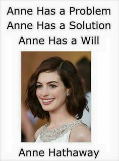 Anne Hathaway pun