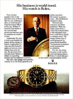"The ""Pan Am"" Rolex Cosmograph Daytona Vintage Rolex, Vintage Watches, Vintage Ads, Eugene Cernan, John Mcvie, Members Of Fleetwood Mac, Edwards Air Force Base, Rolex Cosmograph Daytona, Stainless Steel Rolex"